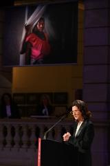 """Antonia Rados spricht auf dem Festakt """"100 Jahre Save the Children"""", Berlin"""